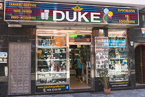The excellent Duke camera shop in Las Palmas