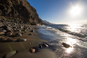 Guayedra beach in  north west Gran Canaria
