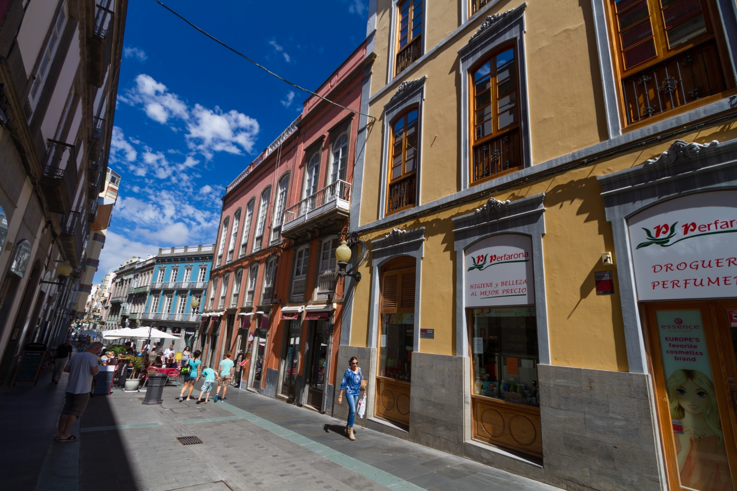 Triana shopping district in Las Palmas de Gran Canaria