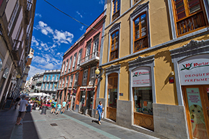 Triana shopping district in Las Palmas