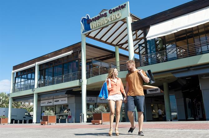 The upmarket Varadero shopping centre at Meloneras in south Gran Canaria