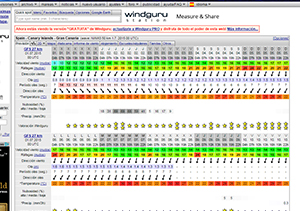 Wind Guru wind and wave forecasts website