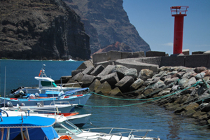 La Aldea town in west Gran Canaria