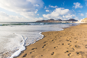 The La Cicer section of Las Canteras beach