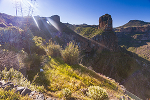 Roque Palmes rock in the Gran Canaria highlands
