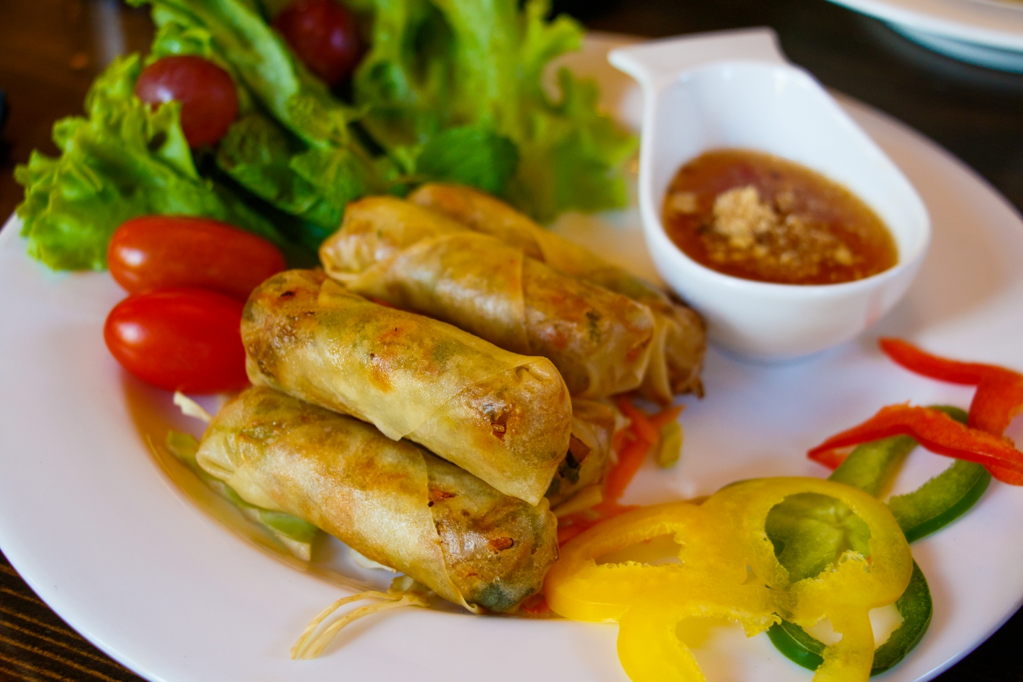 The House Fusion Thai spring rolls
