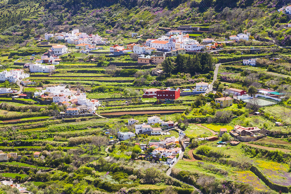 Lagunetas village and church in Gran Canaria