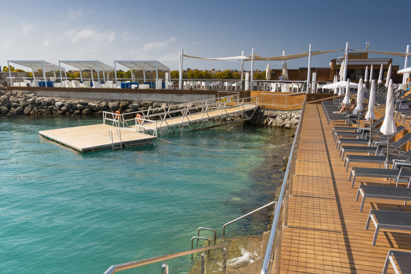Swimming area at the blue flag Pasito Blanco marina