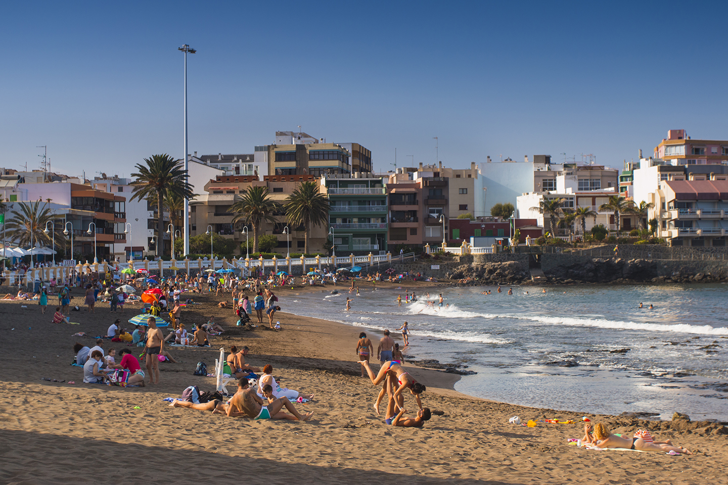 Salinetas Blue Flag beach in east Gran Canaria