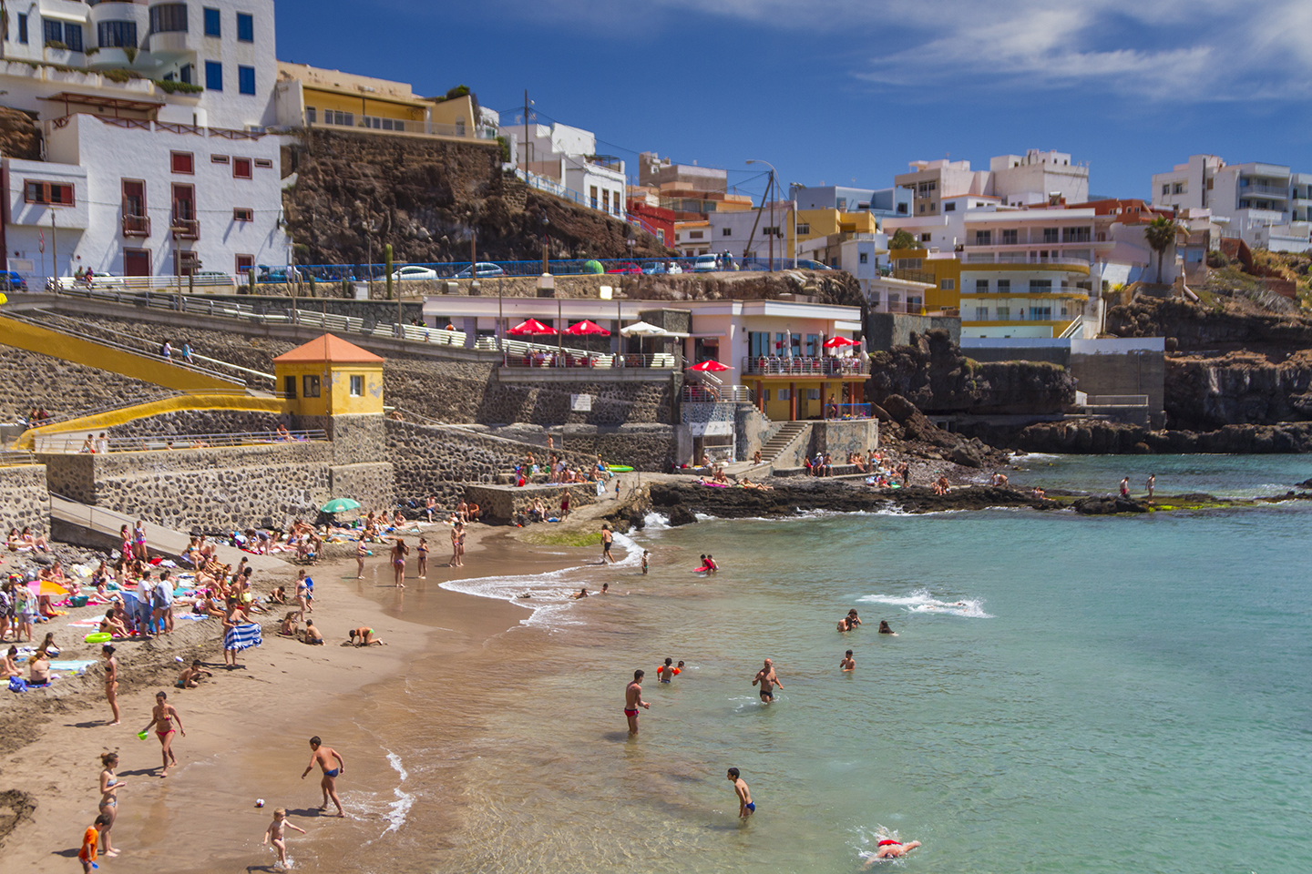 Sardina beach in north west Gran Canaria