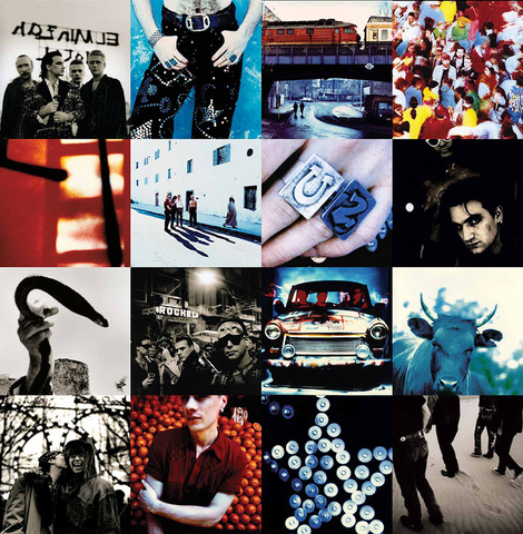Achtung Baby album cover with Tenerife photos