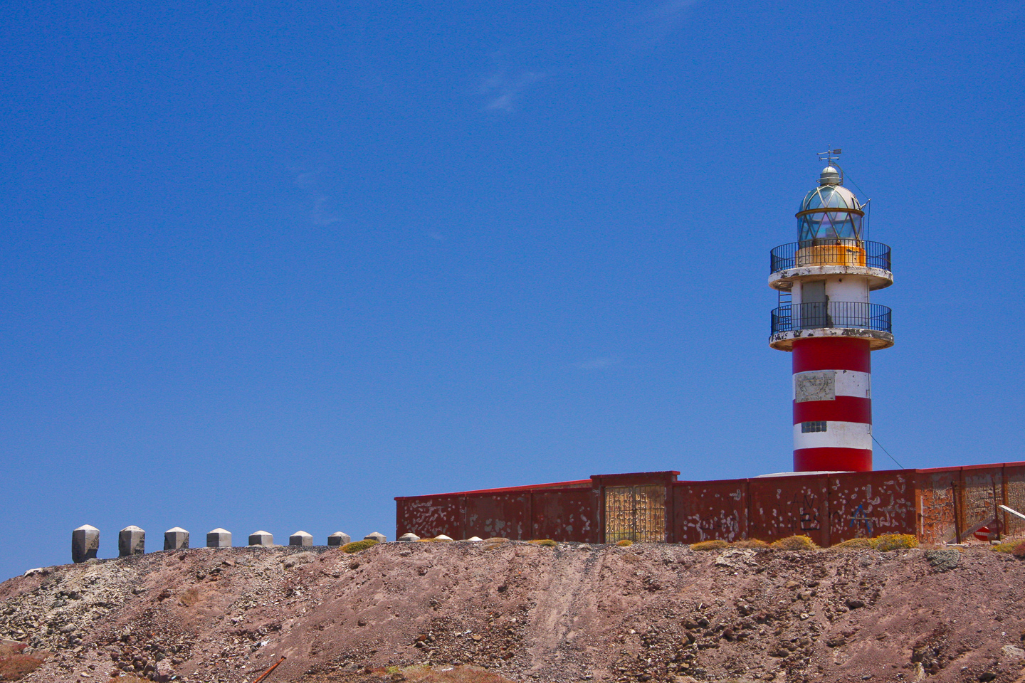 Arinaga lighthouse in east Gran Canaria