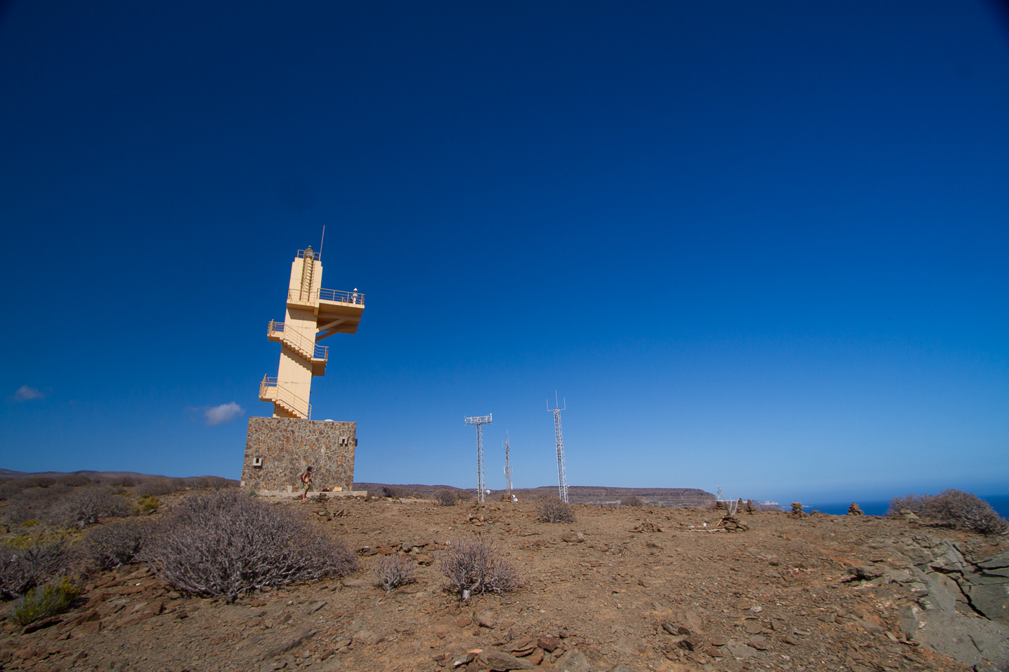 Puta del Castillete lighthouse at Puerto de Mogan in south Gran Canaria