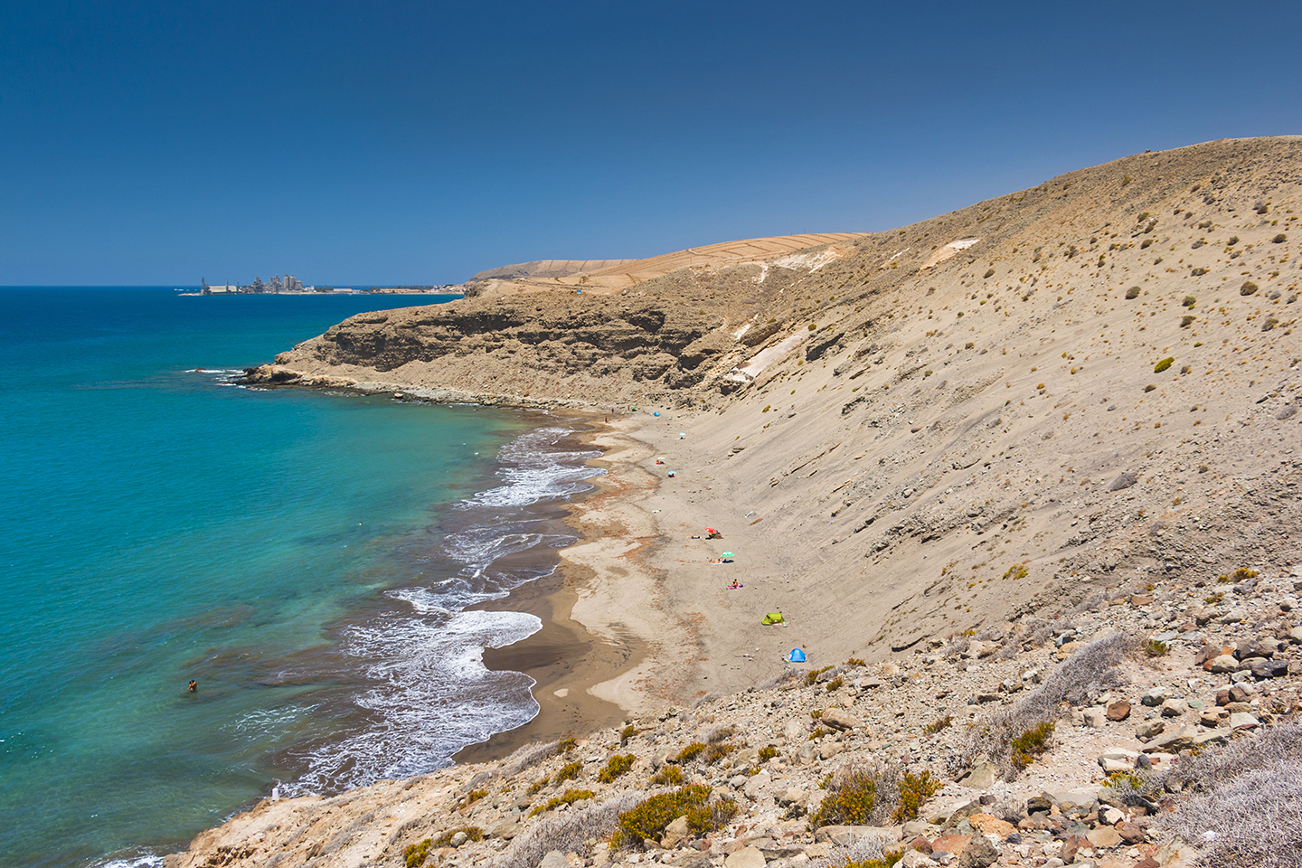 Montaña de Arena beach in south Gran Canaria