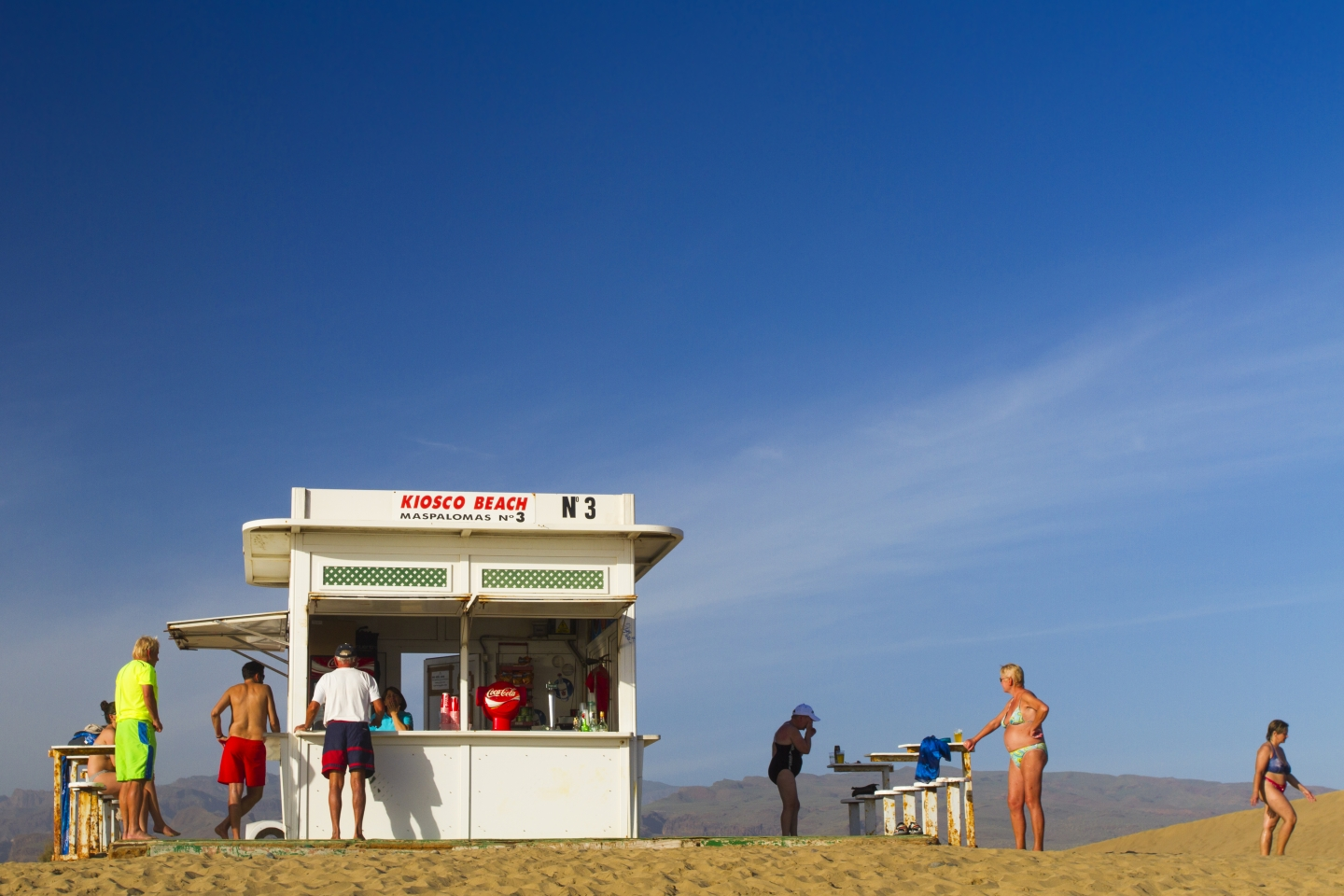 nudist kiosk at Maspalomas beach