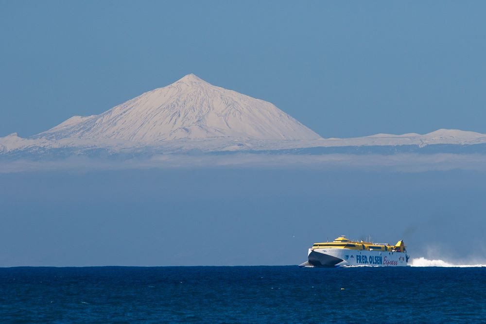 Teide and the Fred Olsen Ferry