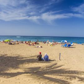 Las Canteras Beach On December 12, 2015