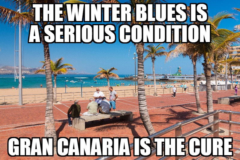 Gran Canaria winter blues free meme