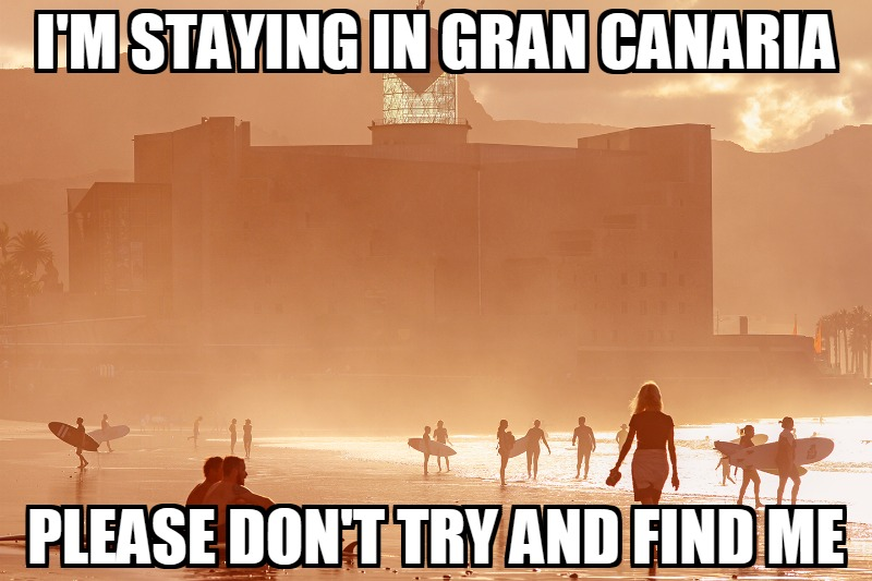free staying in Gran Canaria meme