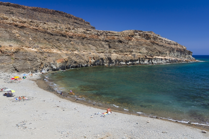 Medio Almud nudist beach in south Gran Canaria