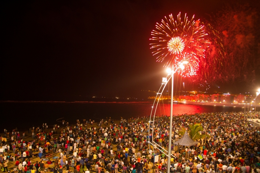 San Juan is Gran Canaria's annual beach party celebration