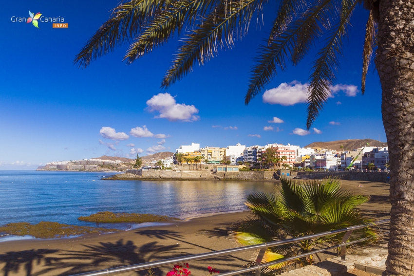 Fluffy clouds are typical in Gran Canaria in September