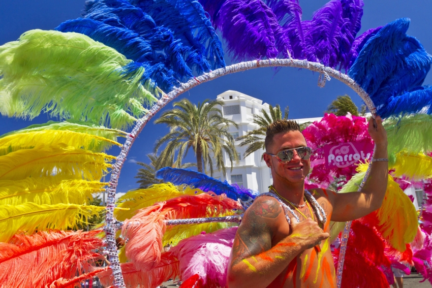 Maspalomas Gay pride is the biggest party in Gran Canaria in May