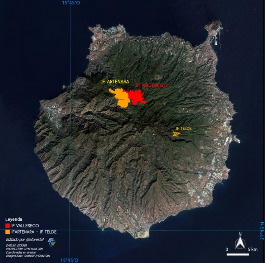 New Gran Canaria Fire Out Of Control Amid New Evacuations