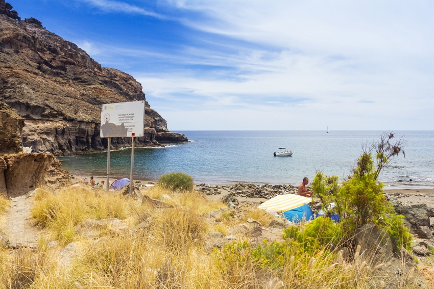 Tiritaña beach in south Gran Canaria