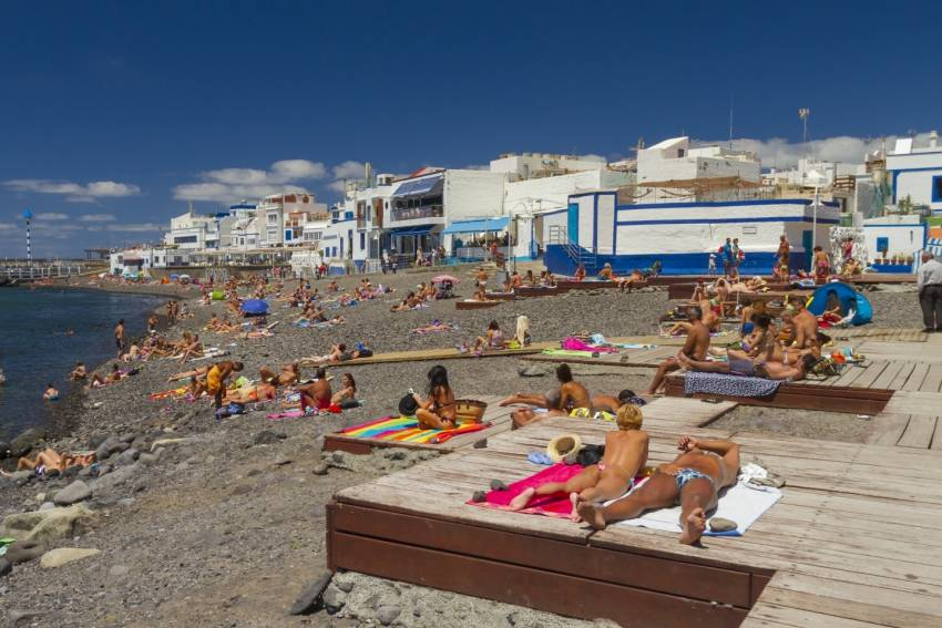 Puerto de las Nieves beach in north west Gran Canaria