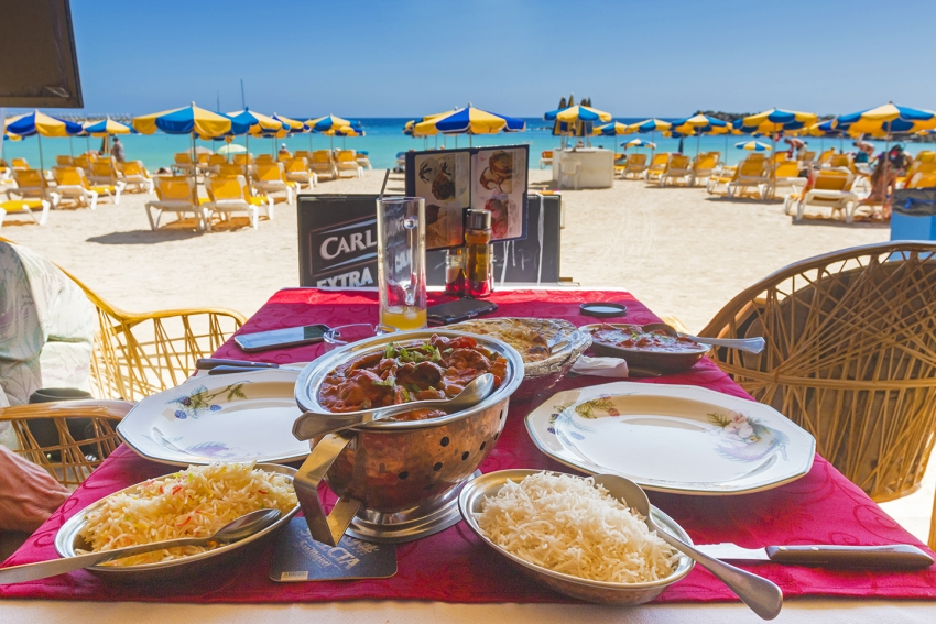 Curry by Amadores beach at the Happy Valley Indian restaurant