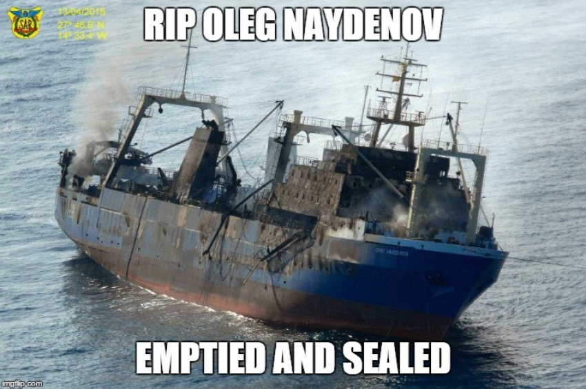 The Oleg Naydenov wreck is no longer a danger
