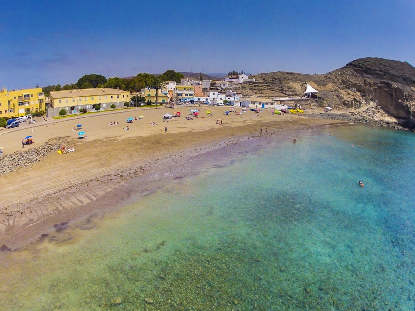 El Pajar beach close to Arguineguín in south Gran Canaria