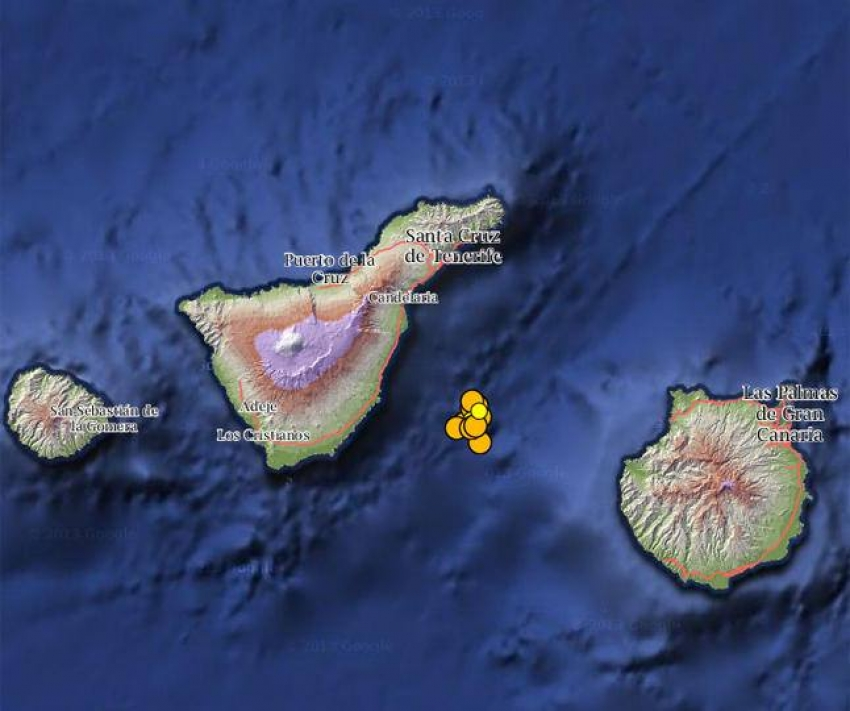 Scientists Study New Volcano Between Tenerife & Gran Canaria