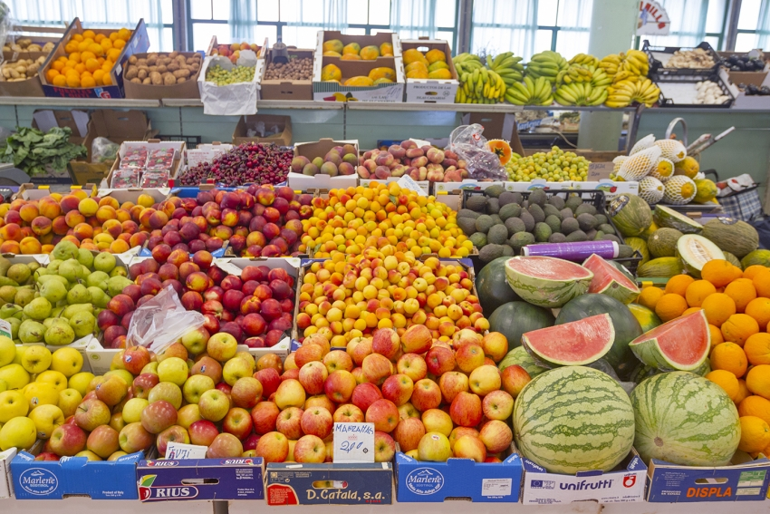 Fruit and veg at Gran Canaria's San Mateo market