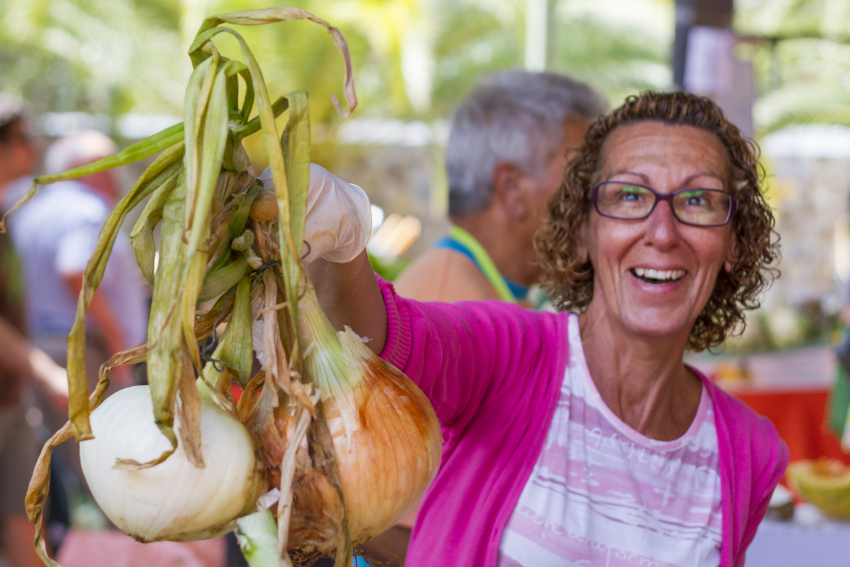 Fresh produce at a Gran Canaria market