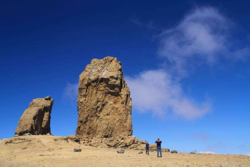 Gran Canaria's top icon: Roque Nublo rock