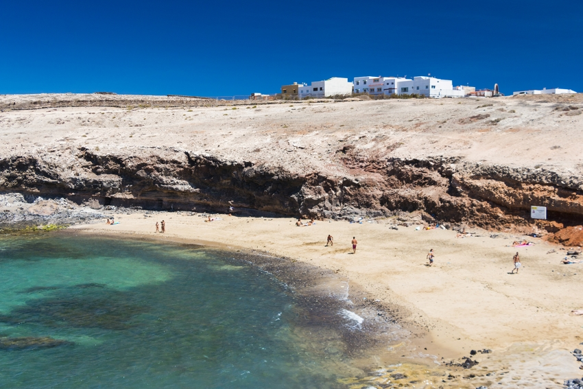 Agua Dulce nudist beach in east Gran Canaria
