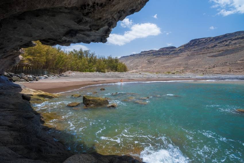 Veneguera beach in south west Gran Canaria