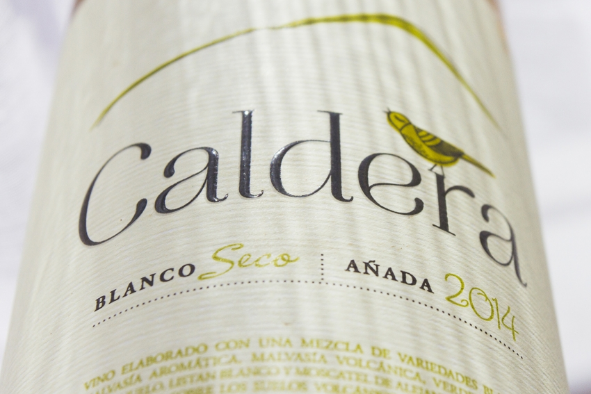 The superb Caldera white wine made in Gran Canaria