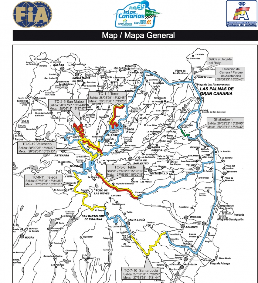 Islas Canarias Rally This Weekend: Road Closure Info