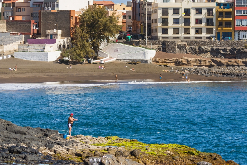 La Garita beach in east Gran Canaria