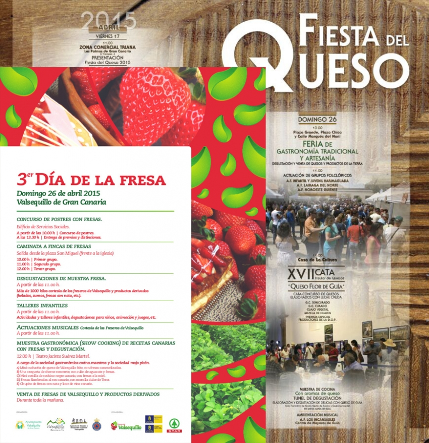 Cheese and strawberry festivals in Gran Canaria on same day