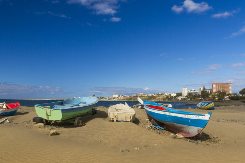 Las Burras beach in Gran Canaria: The name translates as Donkey beach