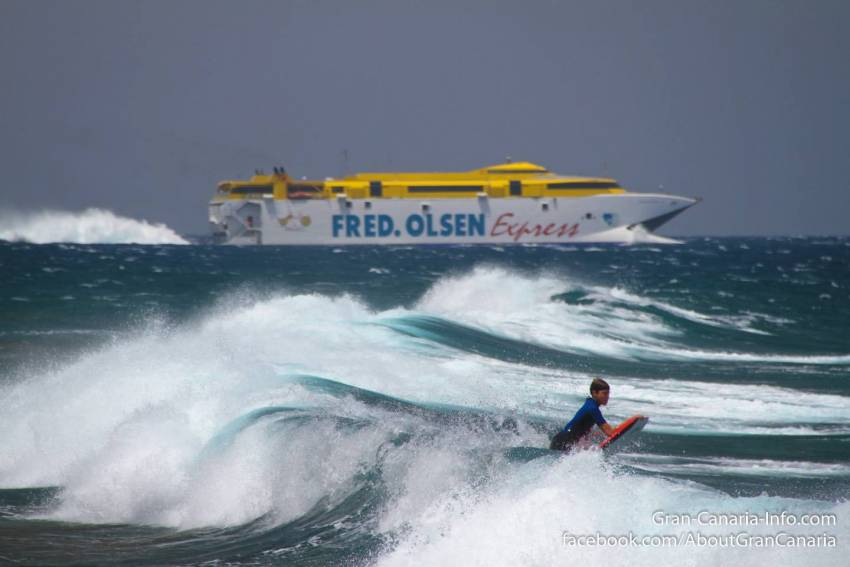 The Fred Olsen fast catamaran