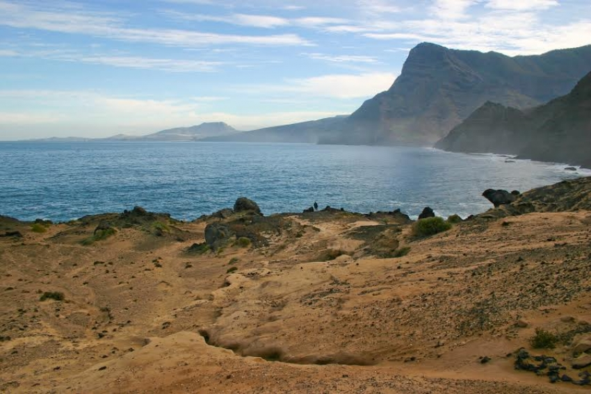 Las Arenas raised beach in west Gran Canaria