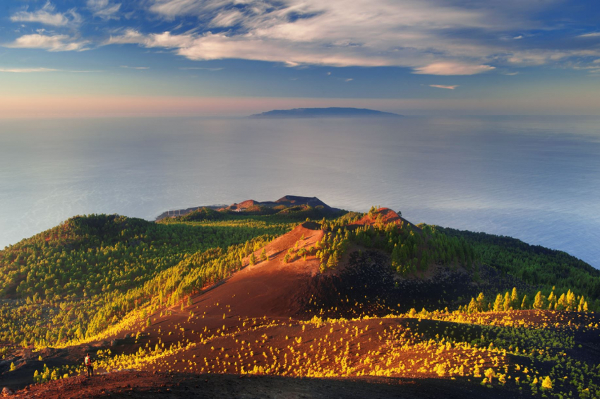 Cumbre Vieja volcano in south La Palma