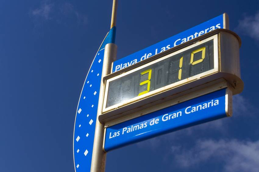 Temperatures in Gran Canaria are higher than the forecasts say