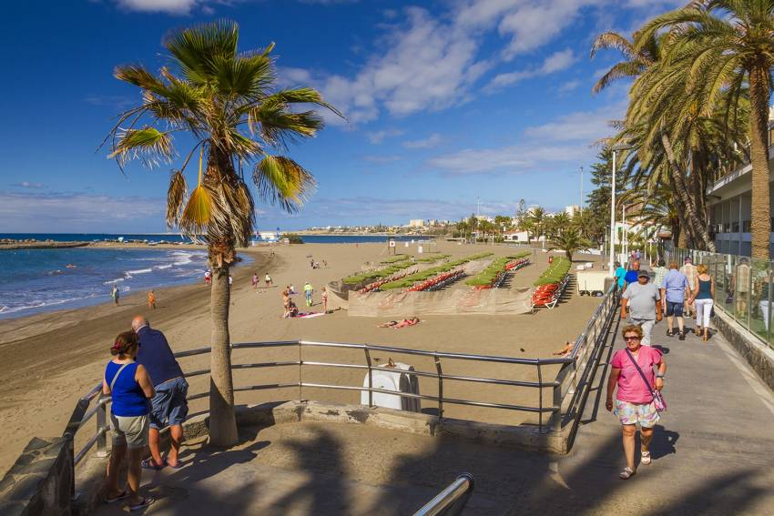 Las Burras beach in south Gran Canaria