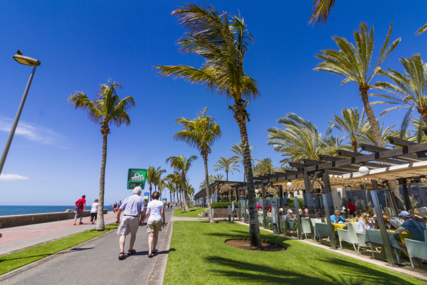 Meloneras is the smart part if Maspalomas with waterfront cafes and restaurants and some great shops